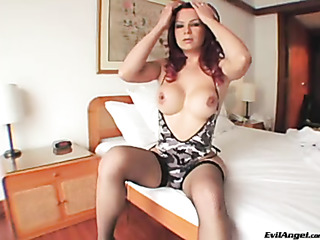 captivating redhead transgender wearing
