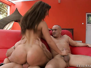 one cock her pussy