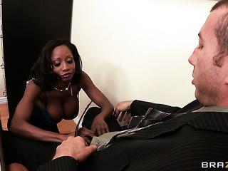 ebony business woman with