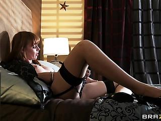 horny gal black garter