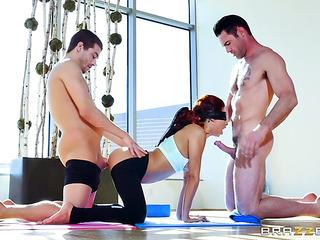 yoga class interrupted when