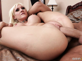 engaging blonde with big