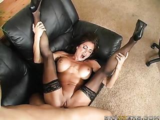 sex addicted brunette black