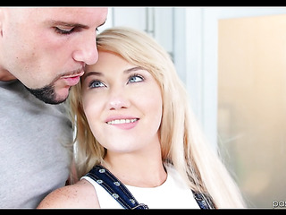 blue-eyed blonde jerking and