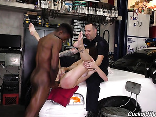 cop has his slutty