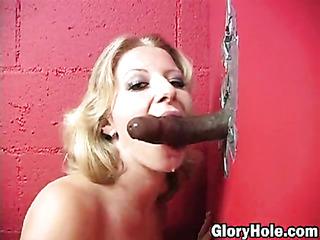 blonde lingerie enjoys thick