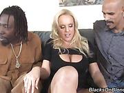 blonde, interracial, tits