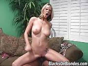 black, blonde, busty, interracial
