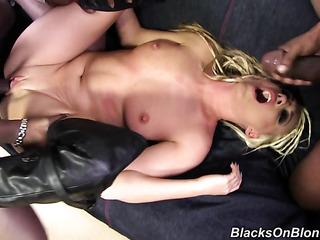 skanky blonde gets picked
