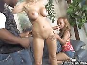 black, interracial, slut, threesome
