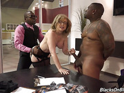 black, interracial, mature, threesome