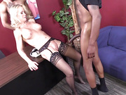 black, interracial, office, threesome
