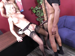 married blonde has threesome