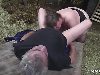 morbidly obese granny sucking