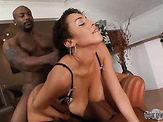 passionate busty ebony fucking