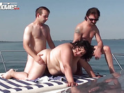 amateur, bbw, boat, fat