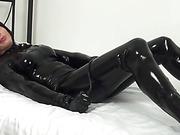 amateur, black, fondling, latex