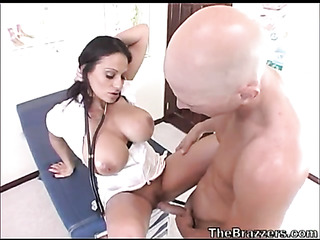 busty brunette nurse sexy