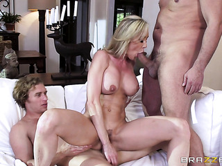 horny blonde housewife green