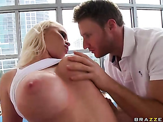 curvy blonde with massive