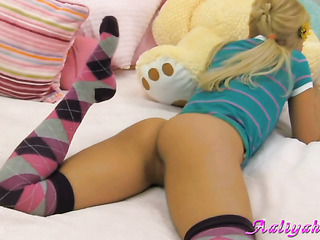 very young blonde with