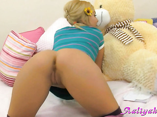 miniature young blonde shows