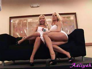 leggy toned blondes bitches