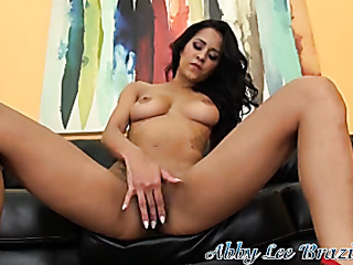 leggy beauty brunette stretches