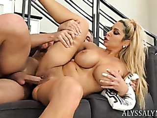 big-tit milf giving passionate