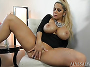busty blonde milf black