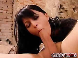 pretty brunette wearing black