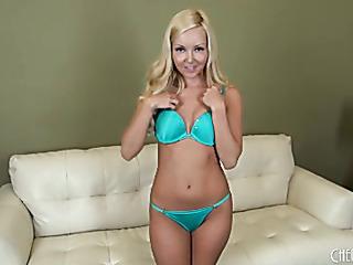 young blonde tan heels