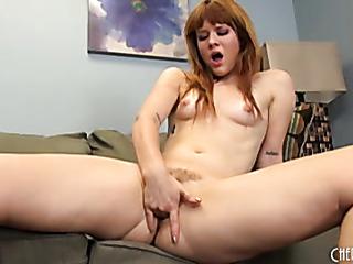 redhead sheds her purple