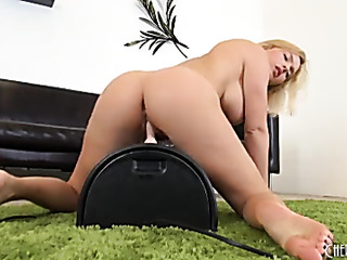 delightful blonde with huge