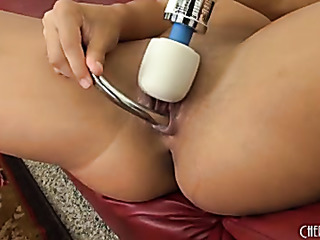 playful brunette white bikini
