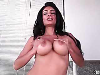 exotic brunette with massive