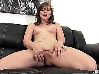 fair brunette chick white