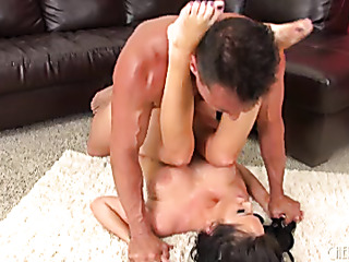 lady kicks off her