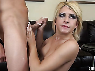 slutty blonde sinstress peels
