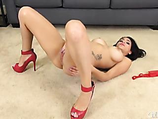 alluring angel red heels