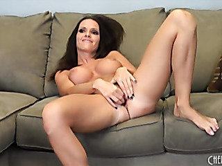 dark-haired delight uses sex