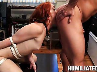 hot redhead sheds skimpy