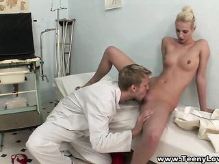 adorable blonde wearing white