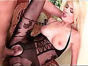 black, cum, on her knees, pantyhose