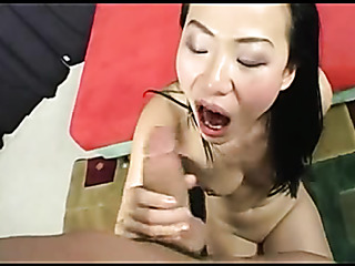 horny asian's pussy pummeled