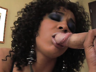 curly haired ebony slut