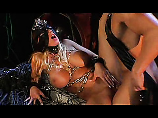 submissive blonde with big