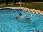 big butts, pool, sue, teen