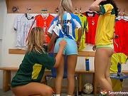 blondes, sporty, teen, three