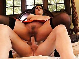 alluring brunette grinds her